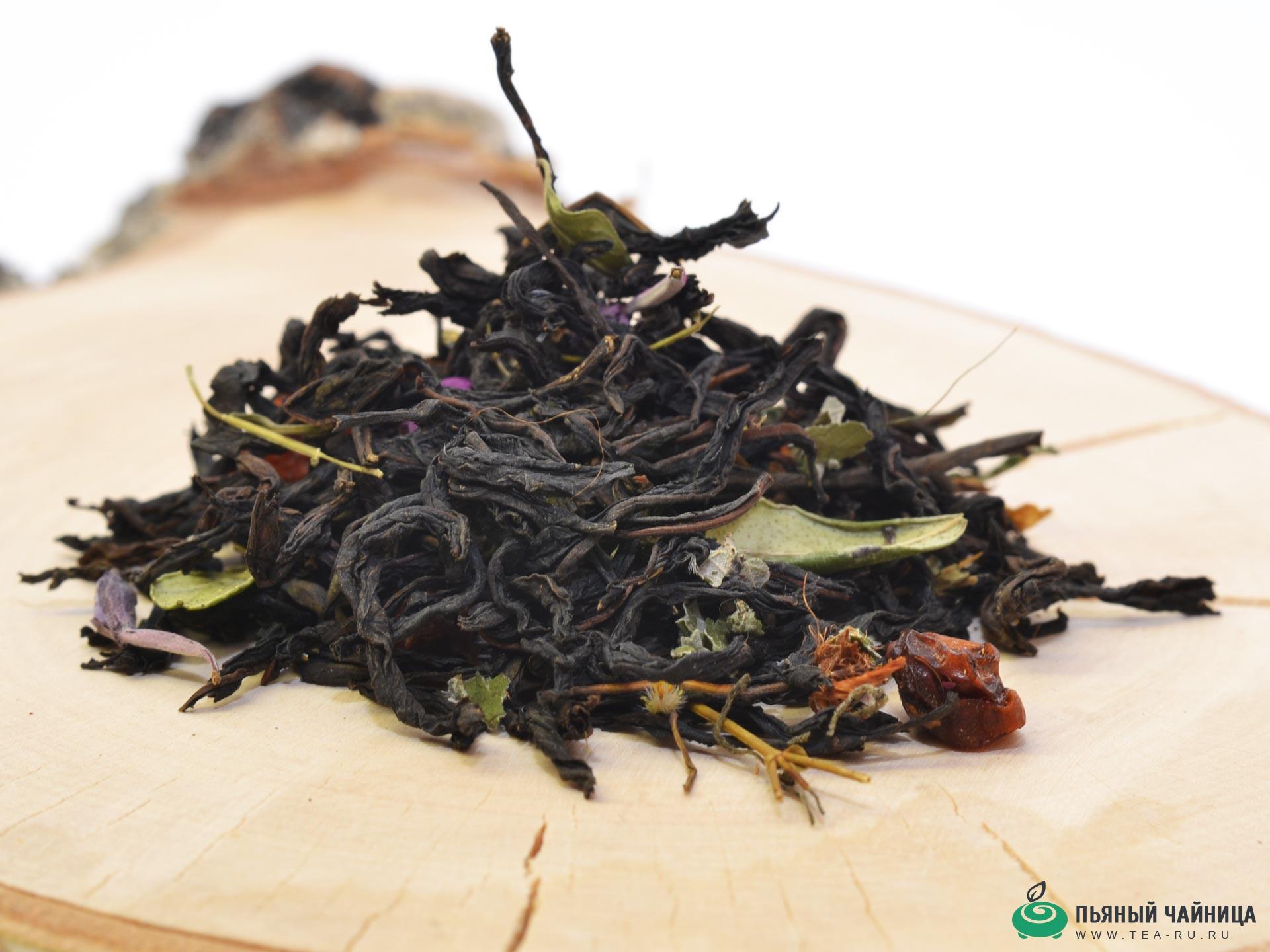 черный чай клубника с лесными травами