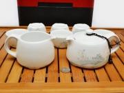 Набор посуды, матовый фарфор, ручная роспись