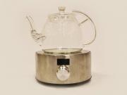 Чайник для варки чая, огнеупорное / жаропрочное стекло, 1100мл.
