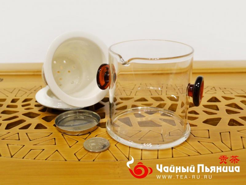 Чайный набор, дорожный / походный, фарфор и стекло