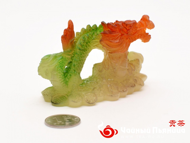 """Чайная игрушка """"Изумрудный Дракон"""", меняющая цвет"""
