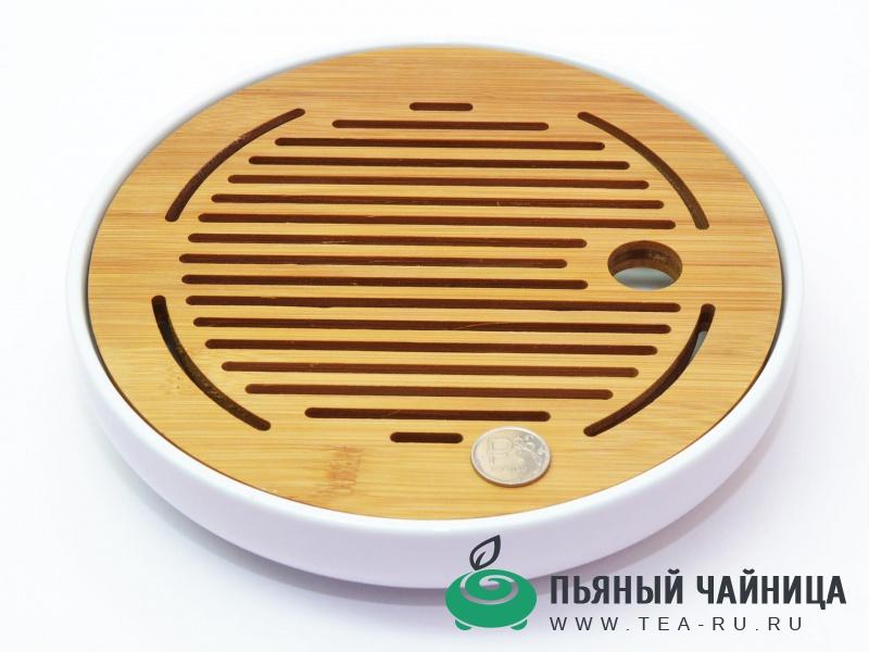 Чабань, доска для чайной церемонии, бамбук и керамика
