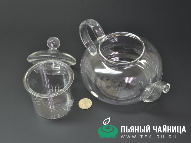 Чайник, стекло, 600мл.